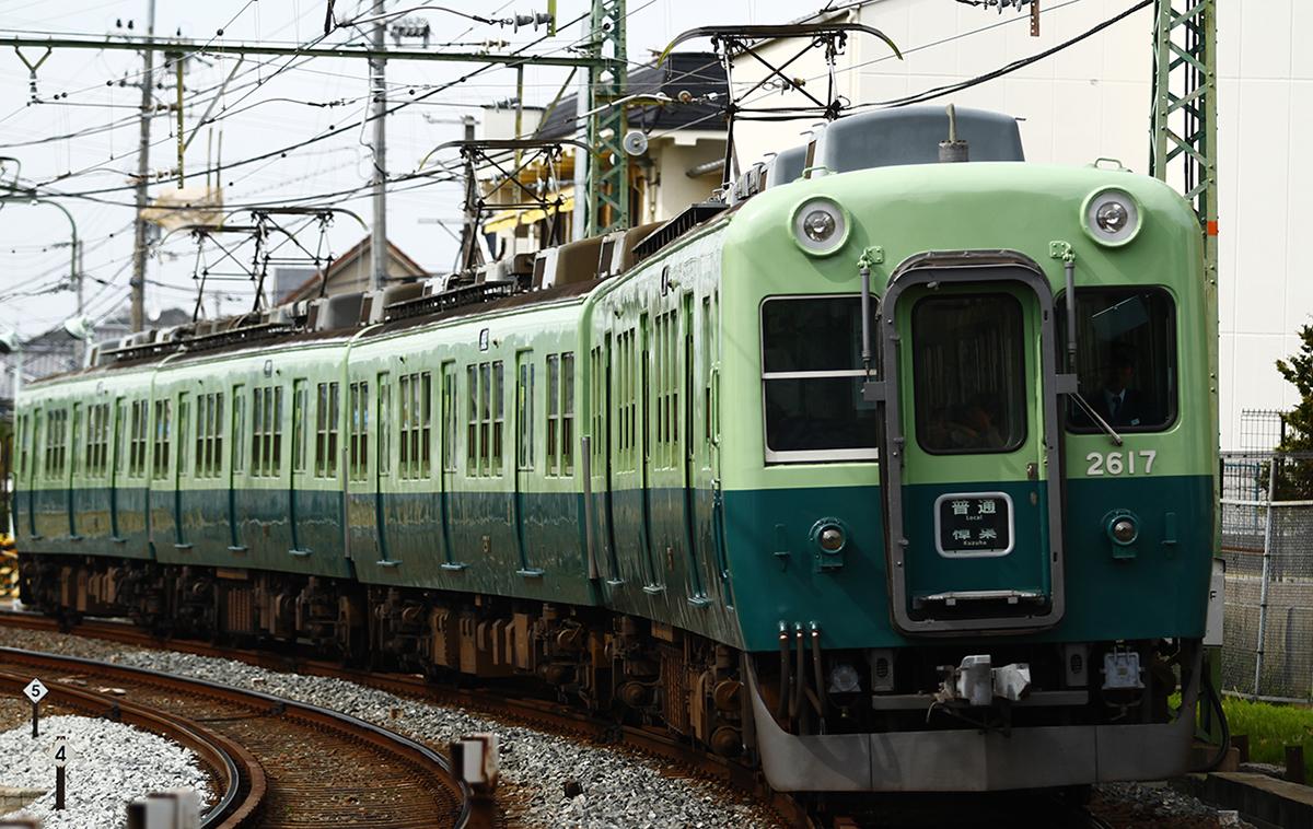 京阪電鉄宇治線旧型塗装車両